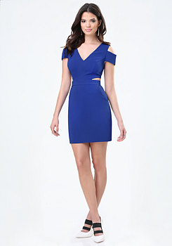 bebe Cutout Cold Shoulder Dress