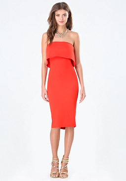 bebe Sheila Strapless Dress