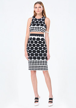bebe Faux 2-Piece Midi Dress