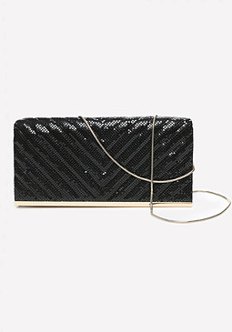 bebe Muyi Chainmail Clutch