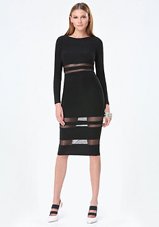 Peekaboo Midi Dress