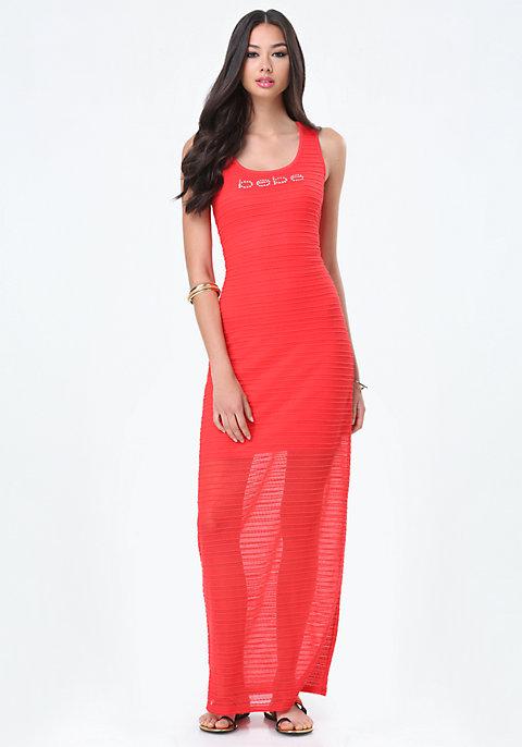 6c4e0b505372 Logo Lace Maxi Dress