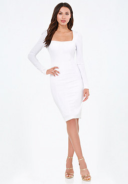 bebe Reyna Square Neck Dress