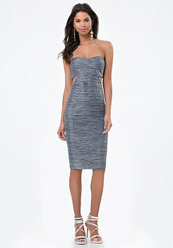 bebe Natasha Cutout Midi Dress