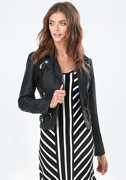 bebe Charline Moto Jacket
