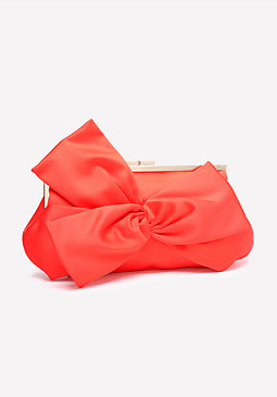 bebe Bow Accent Frame Clutch