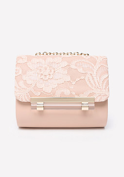 bebe Marissa Lace Crossbody Bag