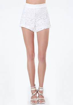 bebe Dana Knit Lace Shorts