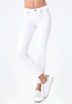 bebe White Skinny Jeans