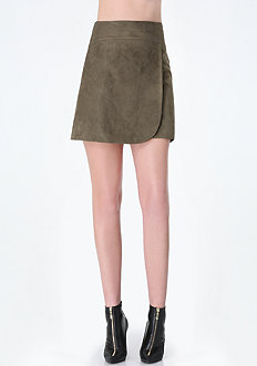 Vera Faux Suede Wrap Skirt