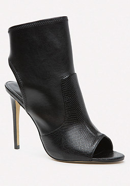 bebe Jessamyn Open Toe Booties