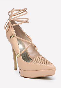 bebe Ellodie Lace Up Pumps