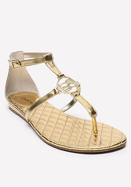 bebe Logo Shaylene Flat Sandals