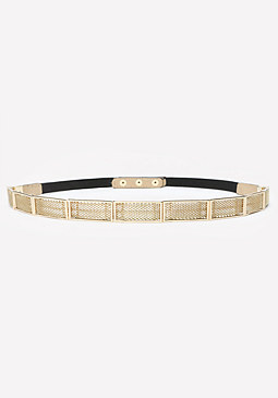 bebe Metal Mesh Stretch Belt
