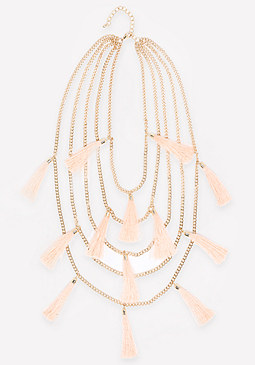 bebe 5-Strand Tassel Necklace