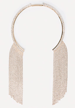 Fringe Collar Necklace at bebe