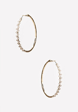 bebe Zigzag Hoop Earrings
