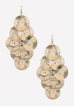 bebe Textured Disc Earrings