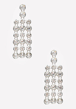 bebe Crystal Linear Earrings