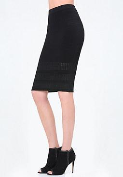 bebe Dash Stitch Ottoman Skirt