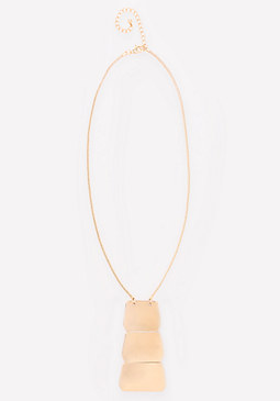 bebe Triple Plate Necklace