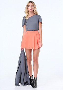 bebe Pleated Knot Top