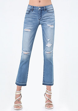 Release Hem Crop Jeans at bebe