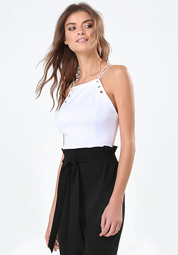 bebe Grommet Bare Shoulder Top