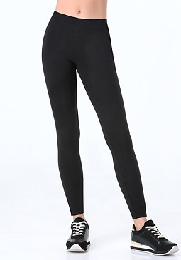 bebe Petite Logo Basic Leggings