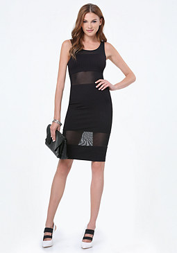 bebe Gigi Ribbed Dress