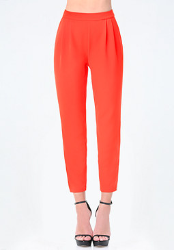 bebe Ankle Zip Pleated Pants