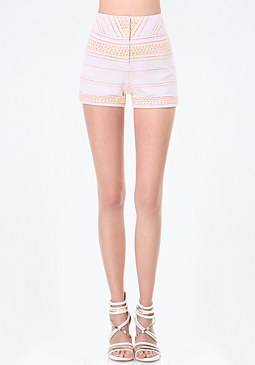 bebe Textured Jacquard Shorts