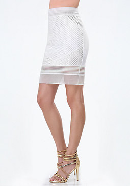 bebe Honeycomb Bodycon Skirt