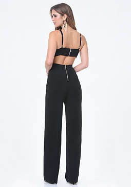 bebe Back Cutout Jumpsuit