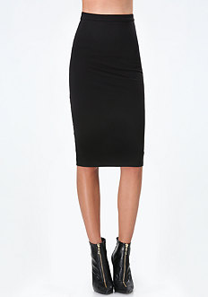 Back Cage Lace Midi Skirt