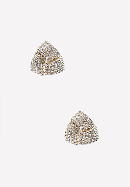 bebe Crystal Interlock Earrings