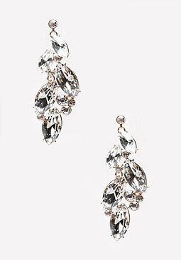 bebe Cascading Stone Earrings
