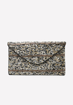 bebe Preeti Beaded Clutch