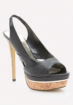 bebe Emervaa Open Toe Pumps