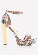 bebe Matinn Chunky Heel Sandals