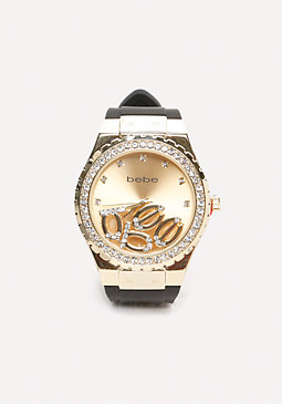 bebe Floating Logo Watch