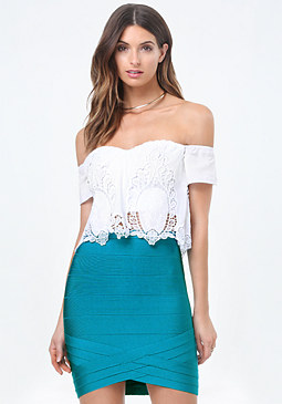 bebe Eden Cold Shoulder Top