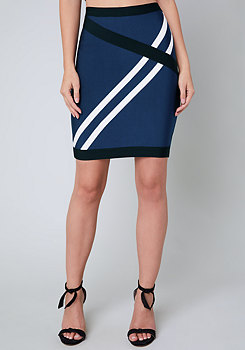 bebe Cecily Colorblock Skirt