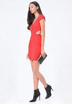 bebe Cutout Bandage Dress