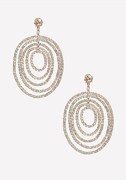 bebe Pave Multi-Circle Earrings