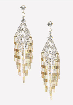 bebe Crystal & Bead Earrings