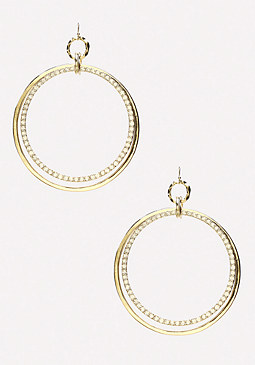 bebe Double Hoop Earrings