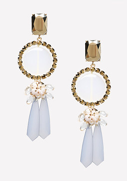 bebe Lucite Statement Earrings
