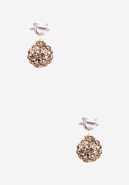 bebe Front-Back Floral Earrings