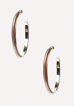 bebe Snake Chain Hoop Earrings